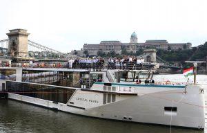 Taufe der Crystal Ravel in Budapest als vierte Schiff der Crystal Cruises Rheinklasse