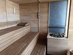 Sauna mit Meerblick auf der MS Europa 2