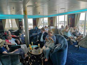 Galileo´s Lounge auf der Reget Seven Seas Navigator
